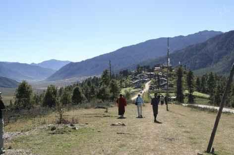 Balade dans la vallée de Phobjika - Bhoutan -