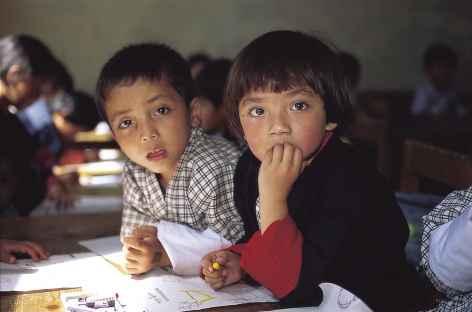 A l'école - Bhoutan -
