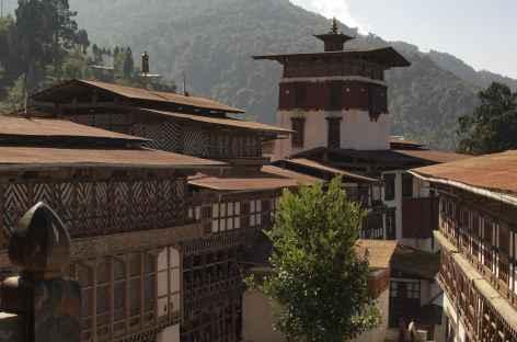 Cours au Dzong de Trongsa - Bhoutan -