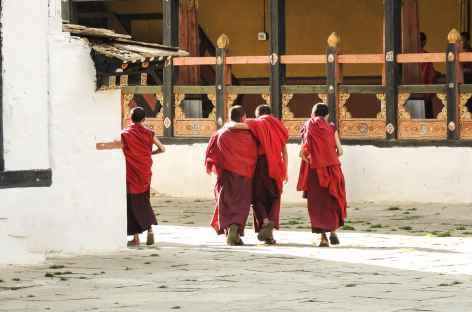 Dans les cours du Dzong de Paro - Bhoutan -