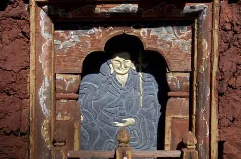 Gravure sur ardoise à Jakar Festival - Bhoutan -
