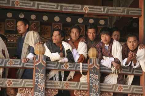 Spectateur lors du festival - Bhoutan -