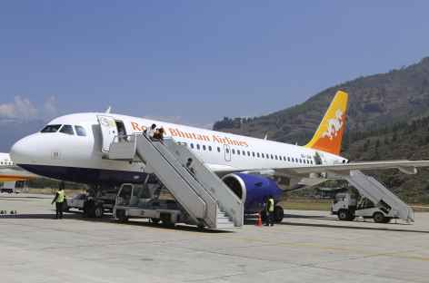Un Airbus 319 de la compagnie Drukair - Bhoutan -