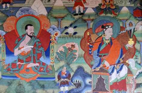 Peintures d'un temple de Jakar - Bhoutan -