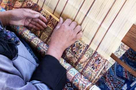Tissage de kira en soie - Bhoutan -