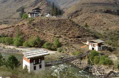 Pont de chaines de Tacho Lhakhang - Bhoutan -