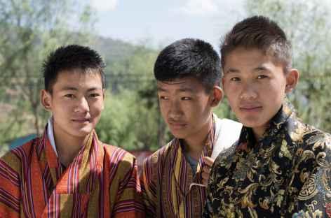 Jeunes amis bhoutanais - Bhoutan -