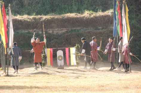 Cérémonie au Tir à L'arc - Bhoutan -