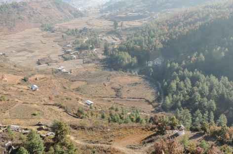 Descente vers Bondey  - Bhoutan -