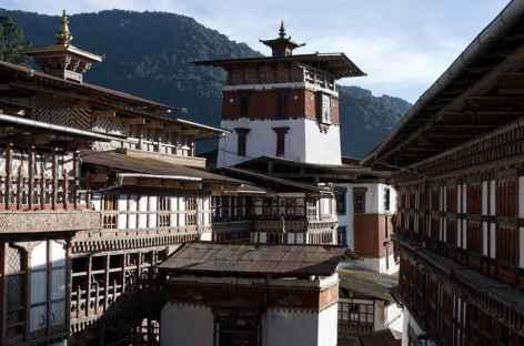 Cour intérieure du dzong de Trongsa - Bhoutan -