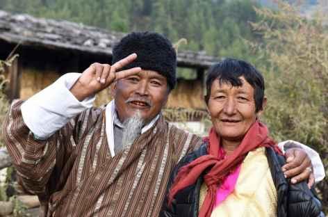 Bonne humeur chez un vieux couple - Bhoutan -