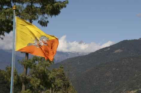 Drapeau National - Bhoutan -