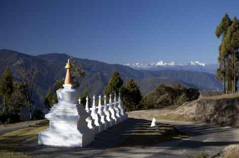 Dans les virages sous Yongphula - Bhoutan -