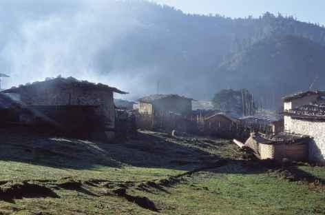 Village de Sakteng au petit matin - Bhoutan -