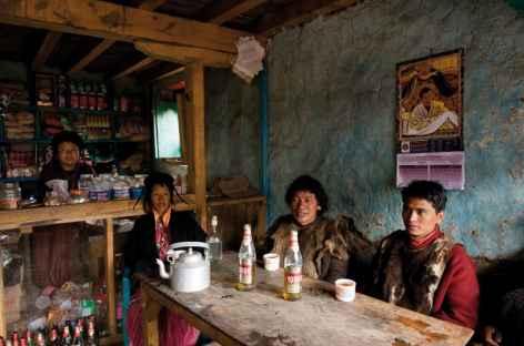 Bistrot local à Sakteng - Bhoutan -