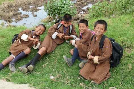 Retour de l'école - Bhoutan -