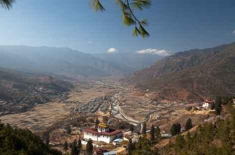 La vallée de Paro depuis Zuri Lhakhang -