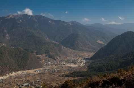 Vallée entre Paro et Thimphu -