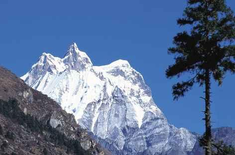Le Masang Kang (7200 m) depuis Take Hankhar - Bhoutan -