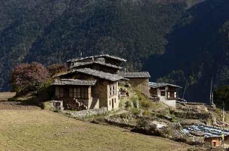 L'un des hameaux de laya - Bhoutan -