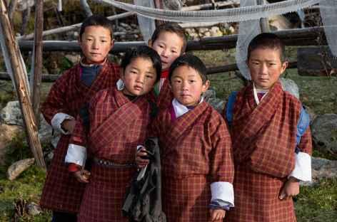 Jeunes écoliers de Laya - Bhoutan -