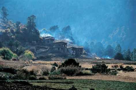 Le village de Laya au petit matin - Bhoutan -