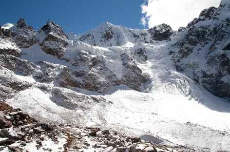 Au pied ders glaciers du Masang Kang - Bhoutan -