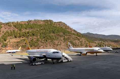 Arrivée à l'aéroport de Päro - Bhoutan -