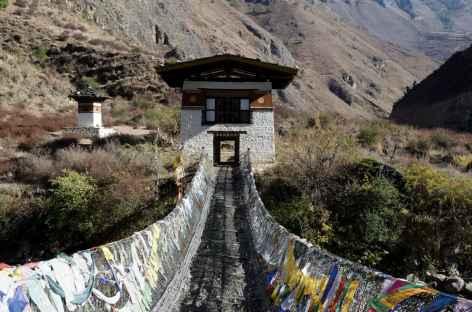 Pont de chaînes construit par Thangthong Gyelpo au XVe siècle - Bhoutan -
