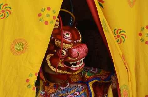 Danse masquée, festival de Talo - Bhoutan -