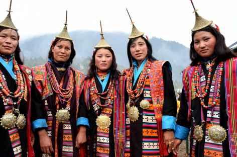 Danses de Laya durant le festival de Gasa - Bhoutan -