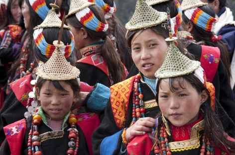 Jeunes femmes de Laya, Nord Ouest du Bhoutan -