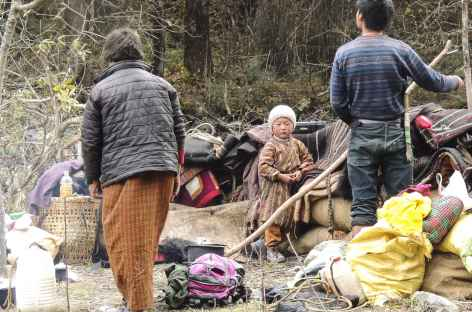 Nomades en transhumance - Bhoutan -