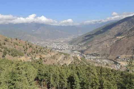 Vue sur la capitale  - Bhoutan -