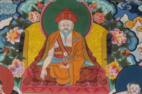 Fresque du Shabdrung Nawang Namgyal, unificateur du Bhoutan -