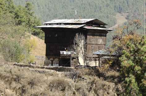 Architecture de Bumthang  - Bhoutan -