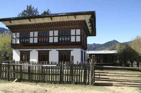 Maison traditionnelle du Bhoutan -