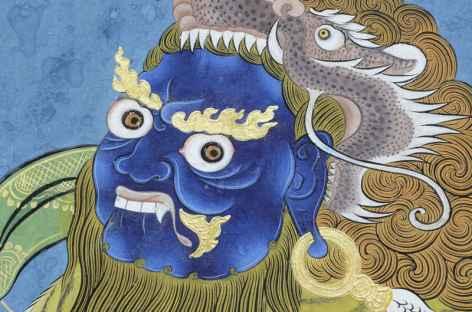 Peinture à l'intérieur d'un temple  -