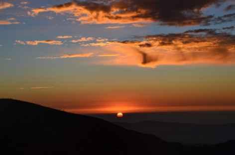 Coucher de soleil, Sikkim -