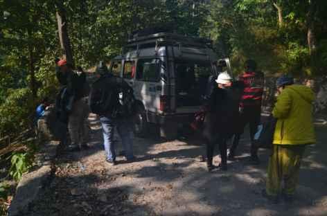 Départ en jeep, Sikkim -