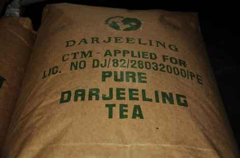 Sac de thé, Darjeeling -