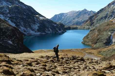 Omte tso, dernier lac croisé lors du Snow Man - Bhoutan -