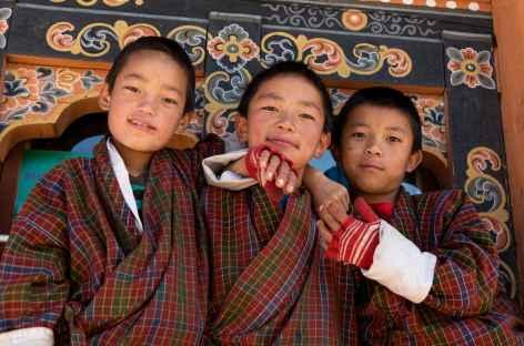 Derniers portraits sur le chemin de l'aéroport de Paro - Bhoutan -
