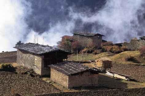 Arrivée à Laya - Bhoutan -