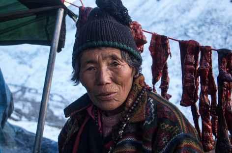 Séchage de la viande de yak - Bhoutan -