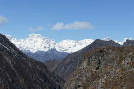 Vue sur le Gangbum depuis le Tsome la - Bhoutan -