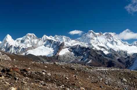 Panorama sur les massifs de Lunana - Bhoutan -