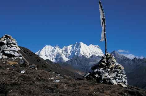 Le Kangchenta (6800 m) depuis le Sinche La - Bhoutan -