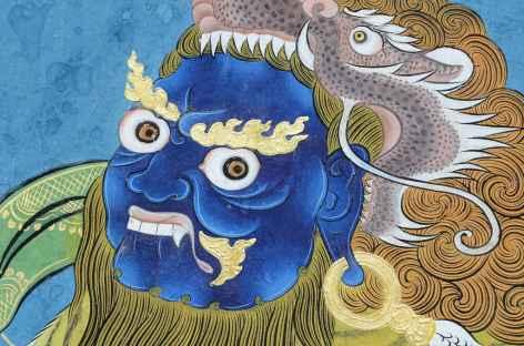 Divinité terrible à l'entrée de Taktsang - Bhoutan -