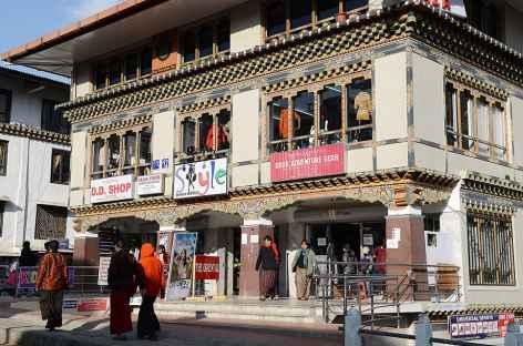 Boutique dans les rues de Thimphu - Bhoutan -
